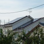 太陽光パネルの設置完了